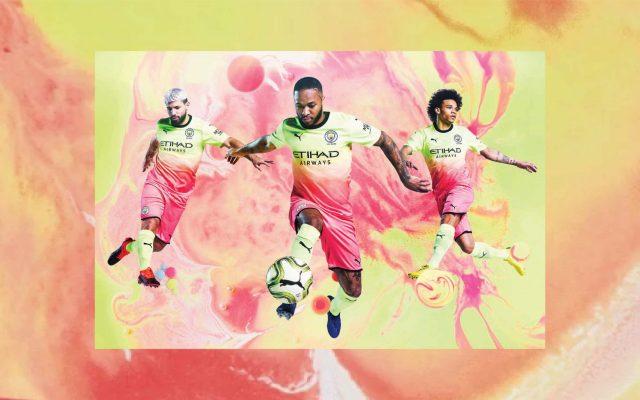 Áo CLB Man City 2020 Sân Khách 2 Màu Vàng Hồng 7