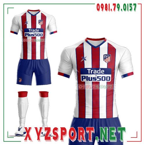 Áo CLB Atletico Tự Thiết Kế Mã ALT-03 Màu Trắng 2