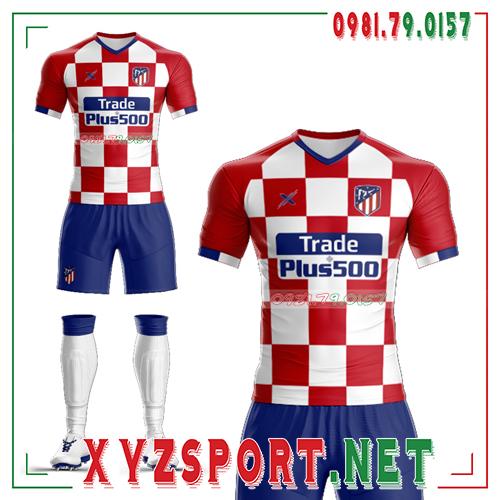 Áo CLB Atletico Tự Thiết Kế Mã ALT-03 Màu Trắng 3