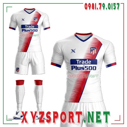 Áo CLB Atletico Tự Thiết Kế Mã ALT-03 Màu Trắng 1