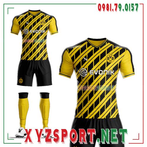 Áo CLB Dortmund Tự Thiết Kế Mã DOR-03 Màu Vàng Đen 2
