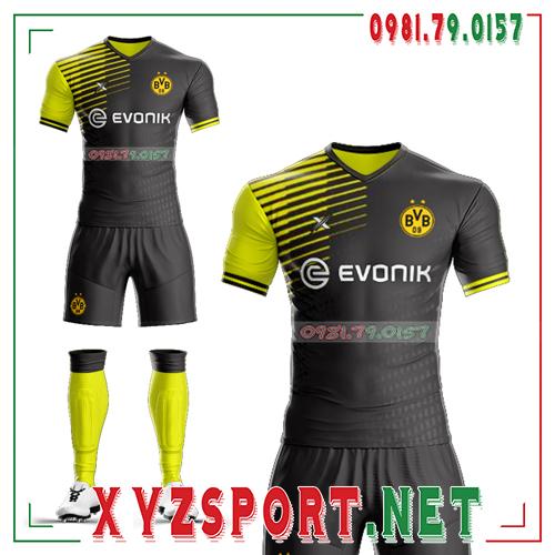 Áo CLB Dortmund Tự Thiết Kế Mã DOR-03 Màu Vàng Đen 3