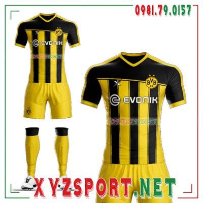 Áo CLB Dortmund Tự Thiết Kế Mã DOR-03 Màu Vàng Đen 6