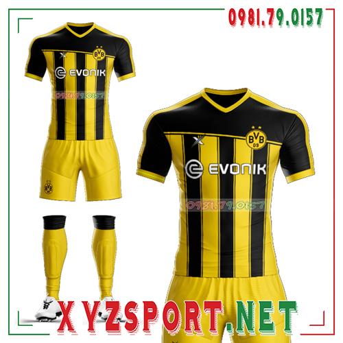 Áo CLB Dortmund Tự Thiết Kế Mã DOR-03 Màu Vàng Đen 1