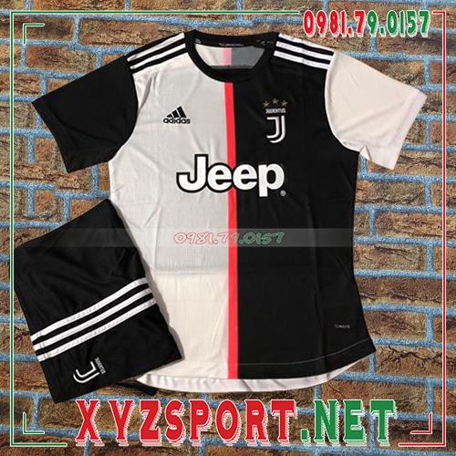 Áo CLB Juventus 2020 Sân Nhà Màu Đen Trắng 1