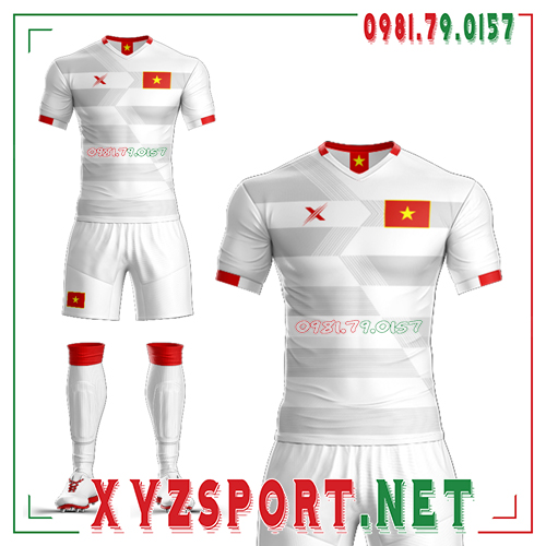 Áo Đội Tuyển Việt Nam Tự Thiết Kế VN-03 Màu Trắng 1