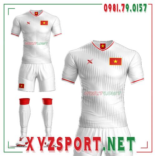 Áo Đội Tuyển Việt Nam Tự Thiết Kế VN-03 Màu Trắng 3