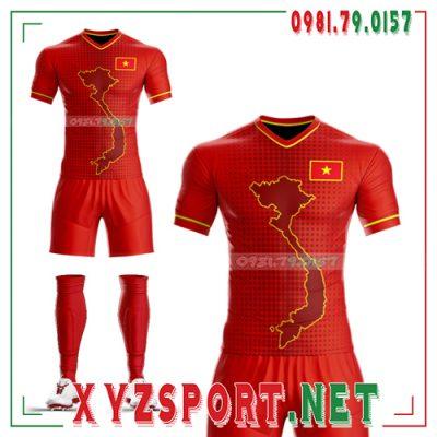 Áo Đội Tuyển Việt Nam Đỏ Tự Thiết Kế Mã VN-05 8