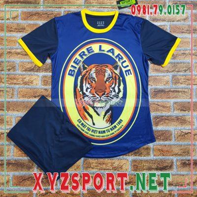 Áo Không Logo Bia Tiger Màu Xanh Đậm 8