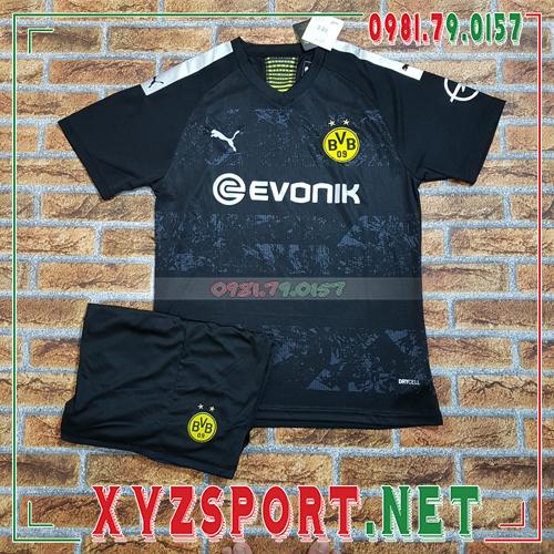 Áo CLB Dortmund 2020 Sân Khách Màu Đen 1