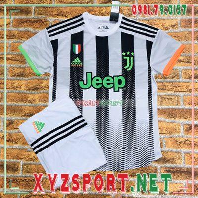 Áo CLB Juventus 2020 Sân Khách 3 Màu Trắng Đen 8