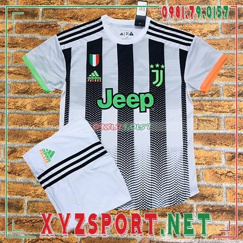 Áo CLB Juventus 2020 Sân Khách 3 Màu Trắng Đen 1