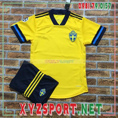 Áo Đội Tuyển Thụy Điển 2020 Sân Nhà Màu Vàng 1
