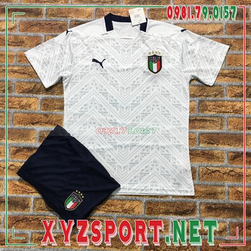 Áo Đội Tuyển Ý 2020 Sân Khách Màu Trắng 1