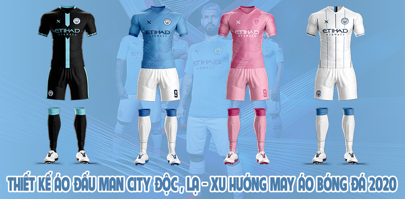 Thiết kế áo đấu Man City độc và lạ - Xu hướng may áo bóng đá 2020 5